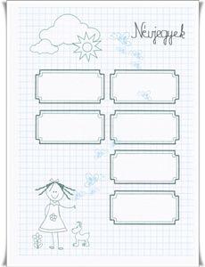 névjegyek - kislány Notebook, Bullet Journal, Exercise Book, The Notebook, Journals