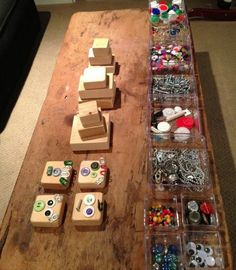 make a robot station - robot b'day party