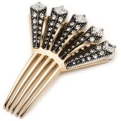 Brigitte hair comb ($225) ❤ liked on Polyvore featuring accessories, hair accessories, antique hair comb, hair combs, art deco hair accessories, hair combs accessories and antique comb