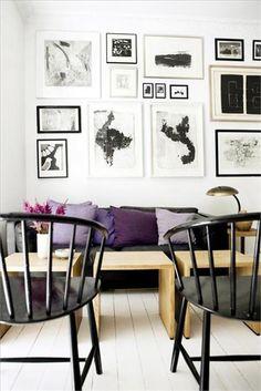 Lavender and black living room #SephoraColorWash