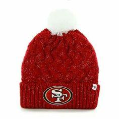 Women's San Francisco 49ers New Era Scarlet Slouch Pick Knit Beanie