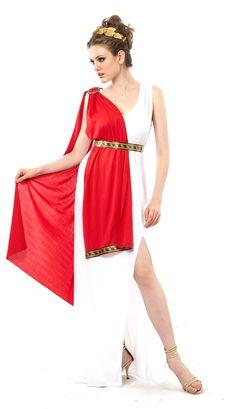 Adulto Romana o Dio Greco Toga Con Fascia Blu Costume