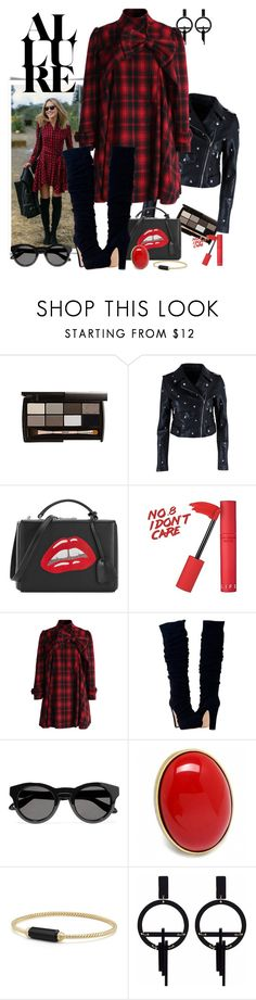 """""""Red and Black Fashion_Pretty in Plaid"""" by msmith801 ❤ liked on Polyvore featuring Nasty Gal, Mark Cross, Chicwish, Givenchy, Fantasy Jewelry Box, David Yurman and Toolally"""