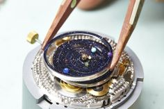 Watches by SJX: SIHH Introducing the Van Cleef & Arpels Midnight Planétarium Poetic Complication, the solar system on your wrist (with. Solar System Watch, Solar System Planets, Our Solar System, Van Cleef Arpels, Astronomical Watch, Apple Watch, Luxury Watches, Cool Watches, Punk Rock