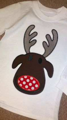 Funky Reindeer Boy Machine Applique Design by ohhsooxford on Etsy, $5.00