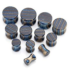 "PiercingJ Mens Womens 12pcs 2g- 5/8"" (6-16mm) Gauge Engineered Wood Double Flared Piercing Plug Kit Ear Stretching Set PiercingJ http://www.amazon.com/dp/B00U390FAI/ref=cm_sw_r_pi_dp_8AKiwb0YATE67"