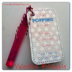 Bubble Valentine {DIY + Printable} Just popping in to say: happy valentine's day.
