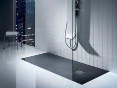 La douche avec un receveur extra-plat : une alternative à la douche à l'italienne pour une plus grande facilité d'installation !