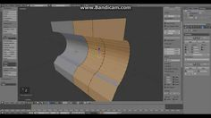How to create panels on curved surfaces in Blender