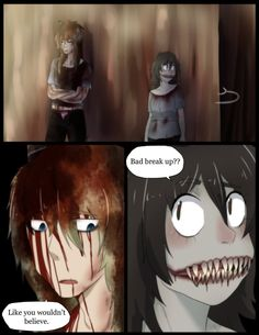 Scene Done. The Alloise ship is confirmed to have happened at some point. Last: i eat pasta for breakfast Next: i eat pasta for breakfast pg. i eat pasta for breakfast Creepy Pasta Comics, Jack Creepypasta, Eyeless Jack, Jeff The Killer, Fan Fiction, Chibi, Scary, It Works, Wattpad