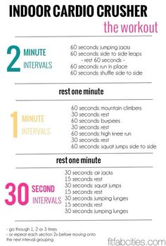 Indoor Cardio Crusher. I think this might kill me. But I'm going to try it.