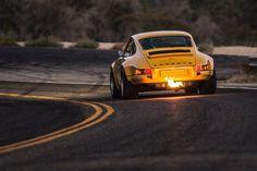 Porsche Singer shooting flames