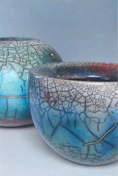Vania Silverio - pull a piece out of the kiln early and then wipe ink into the cracks