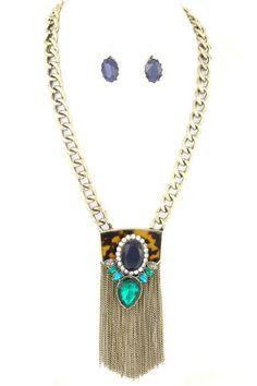 Shop Suey Boutique - BARB PENDANT NECKLACE, $18.50 Includes matching earrings