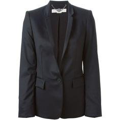 Stella McCartney Classic Blazer ($1,495) ❤ liked on Polyvore featuring outerwear, jackets, blazers, stella mccartney blazer, lapel jacket, stella mccartney, long sleeve jacket and blazer jacket
