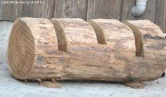natural wood bike rack