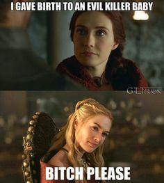 #GameOfThrones memes Cersie Is More Dangerous Then Red Women
