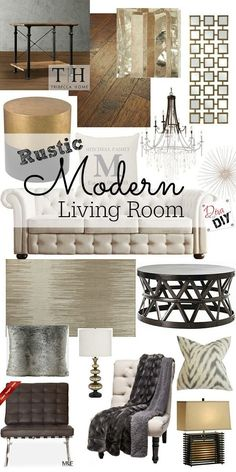 Clean lines combined with rustic charm describes my rustic modern living room. Clean lines combined with rustic charm describes my rustic modern living room. Yes you can have a room that is both classy and comfortable. Glam Living Room, Living Room Modern, Living Room Furniture, Living Room Designs, Small Living, Living Rooms, Living Spaces, Modern Rustic Decor, Rustic Style