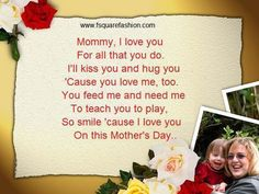 Happy Mother's Day 2014 Poems, Poetry, Songs for Kids!!!