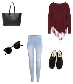 """Sin título #7"" by ximena-lozano-1 on Polyvore featuring moda, H&M, Boris, Vans y Yves Saint Laurent"