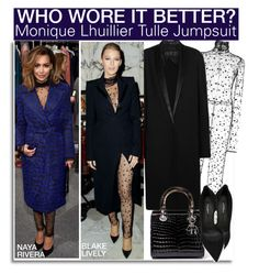 """""""Who Wore It Better? Naya Rivera or Blake Lively?"""" by nfabjoy ❤ liked on Polyvore featuring Monique Lhuillier, Haider Ackermann, Dolce&Gabbana, RedCarpet, WhoWoreItBetter, blakelively, CelebrityStyle and nayarivera"""