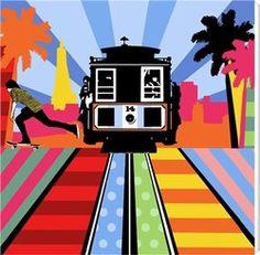 San Francisco Cable Car Pop Art Illustration Poster