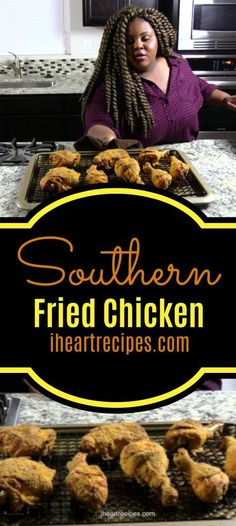Southern Oven Fried Chicken Southern Oven Fried Chicken & I Heart Recipes The post Southern Oven Fried Chicken & Chicken recipes appeared first on Oxtail recipes . Oven Fried Chicken Thighs, Fried Chicken Drumsticks, Crispy Oven Fried Chicken, Fried Chicken Recipes, Meat Recipes, Oven Recipes, Fried Chicken Dinner, Oxtail Recipes, Recipies