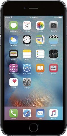 Apple - Geek Squad Refurbished iPhone 6s Plus 16GB - Space Gray (Verizon)
