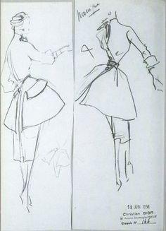 Christian Dior sketch
