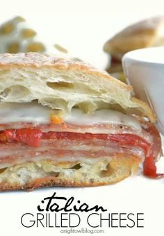 better than a good grilled cheese? Kick it up a notch with some gourmet Italian items and you'll have one delish sandwich!is better than a good grilled cheese? Kick it up a notch with some gourmet Italian items and you'll have one delish sandwich!