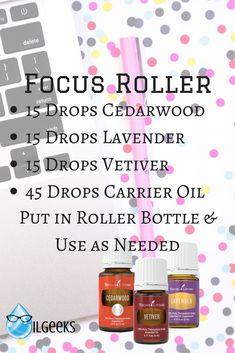 Young Living Essential Oils- Focus Roller Blendi