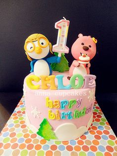 pororo and loopy cake - by annacupcakes @ CakesDecor.com - cake decorating website