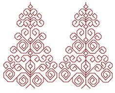 Free Blackwork Embroidery Pattern
