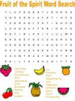 Fruit of the Spirit Word Search