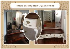 Antique white Cheval dressing table