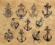 Ship Anchor, Port Aransas, Nautical, Beast, Vintage World Maps, Cricut, Monogram, Ink, Digital