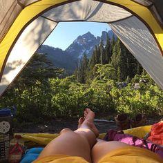 @missholldoll #mountaingirls #campingout #spectaclelake #washington