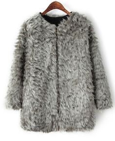 Imitated Fur Thickened Overcoat
