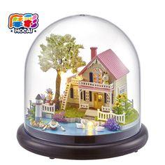Handmade Doll maison Furniture Miniatura house Diy Doll Houses  Wooden Toys For Children Grownups Gift de poupee JHTY042