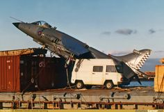 Lost RN Harrier landed in small spanish container ship