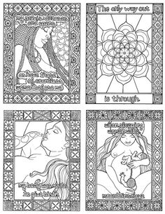 Soften Open Release A Coloring Book of Birth by thefairywood