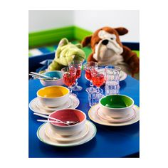 DUKTIG Lautanen/kulho IKEA Pienoiskokoiset lautaset leikkejä varten. Valmistettu kestävästä kivitavarasta.