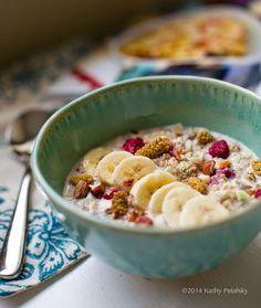 Choosing Raw Bircher Muesli from Gena Hamshaw's New Cookbook! #raw #vegan #breakfast #recipe