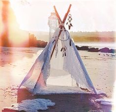 Beach tepee