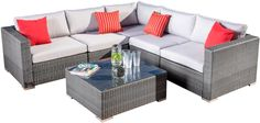 Murillo 6 Piece Sectional Seating Group with Cushions