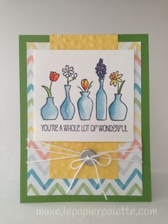 Stampin' Up! Vivid Vases, Watercolor Wonder.  PPA192 sketch, by Le Papier Palette