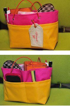 Criar com Tecidos: Organizador de bolsa bem legal. Com moldes e instruções
