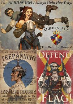 Fable III is my current gaming addiction. I freaking LOVE the art done for the load screens, all in an old school poster-propaganda style.
