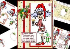 Stella cost of Christmas decoupage or quick card mini kit on Craftsuprint designed by Carol Smith - a mini kit for Christmas featuring Stella with this kit you get a choice of decoupage elements or when in a rush quick card elements, has Stella indulging in a glass of wine and accompanied by candy goodies, the caption being... Hip Hip Hooray Christmas is near... It's not the cost of Christmas I fear... but all of those goodies that will go to my rear! also optional tags with merry Christmas…