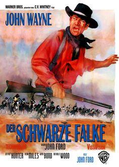 Paramount Pictures Movie Posters 1956 | Filmplakat: schwarze Falke, Der (1956)